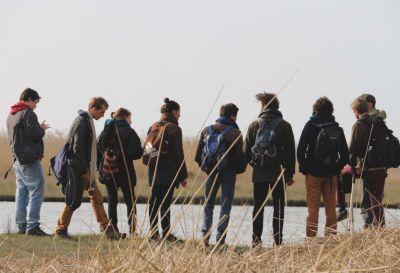 étudiants du Muséum sur le terrain © MNHN