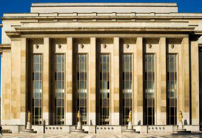 Musée de l'Homme, vue depuis le parvis des droits de l'Homme © MNHN - J-C. Domenech